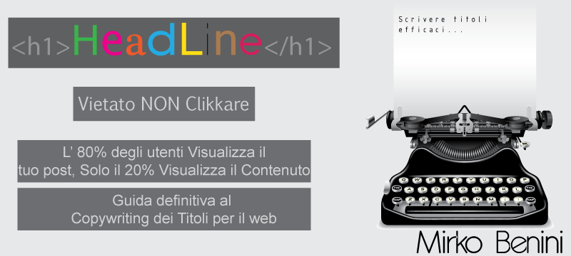 Headline, copywriting titoli per il web